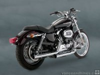 Colas de escape Vance and Hines para Sportster 2004-2010